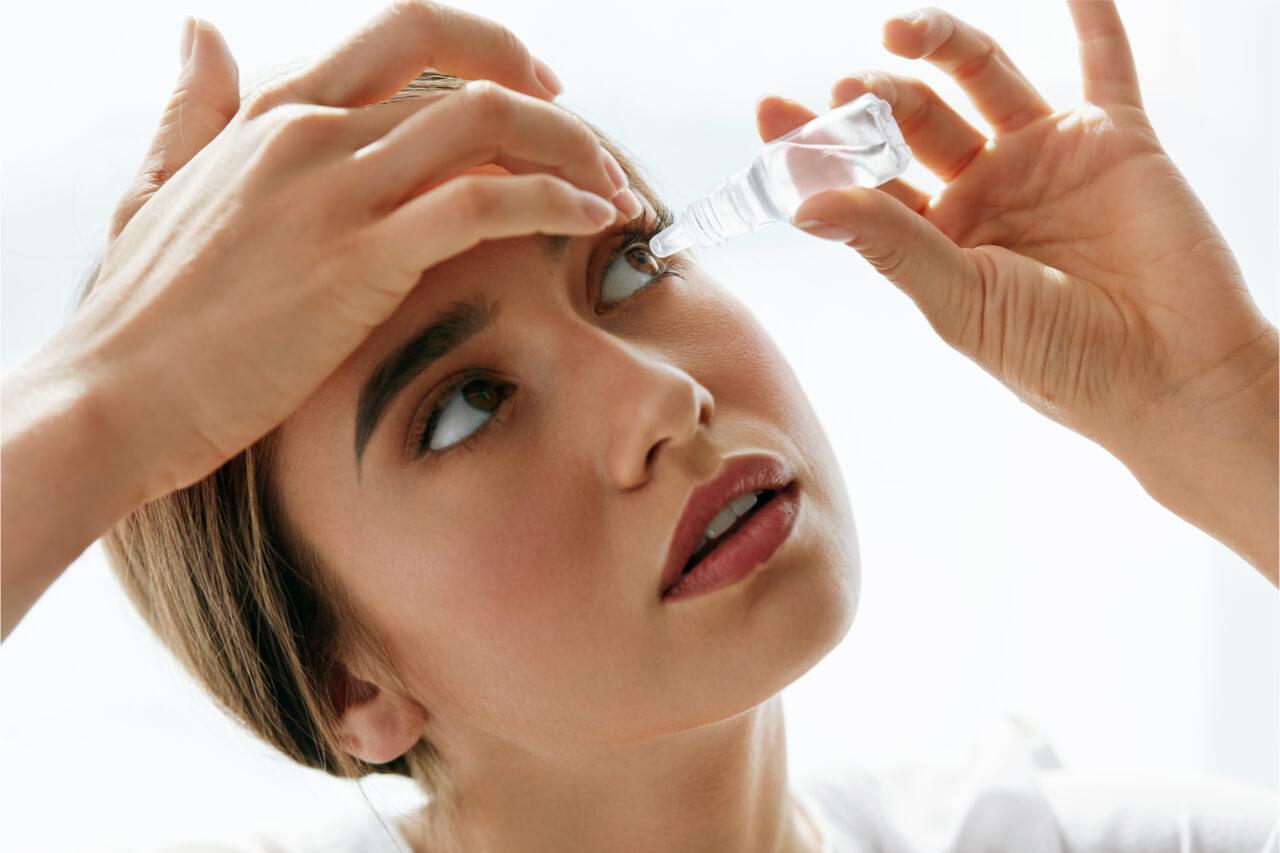 medicated eye drops